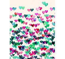 Heart Connections II - watercolor painting (color variation) Photographic Print