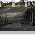 Cemetery Digital Art Landscape Progress by Adara Rosalie