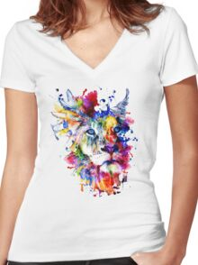 THE KING II Women's Fitted V-Neck T-Shirt
