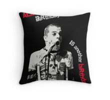 King Blockhead Throw Pillow