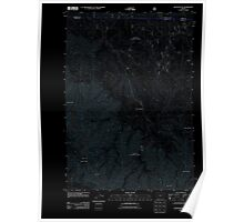 USGS Topo Map Oregon Silver Butte 20110801 TM Inverted Poster