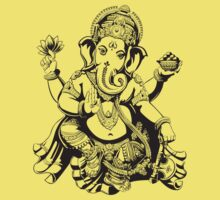 Large Ganesh for light colours by dipsmistry