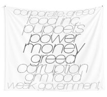 Gov vs Corporate Greed Wall Tapestry