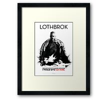 Awesome Series - Lothbrok Framed Print