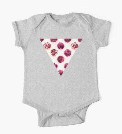 Pink Pomegranate Polka Dots One Piece - Short Sleeve