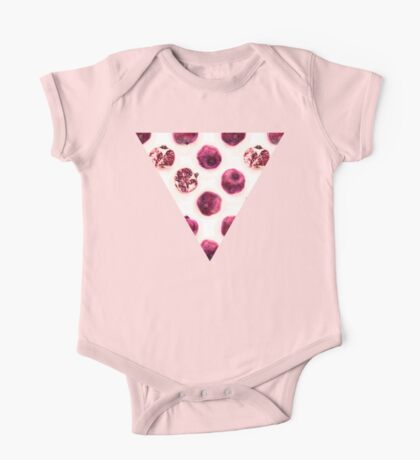Pink Pomegranate Polka Dots One Piece - Short Sleeve