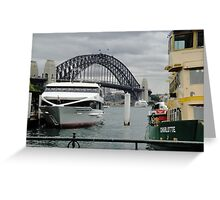 Boats on Sydney Harbour Greeting Card