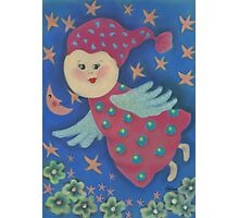 Angel. Flying cute angel for good dreams and happiness. :) Photographic Print