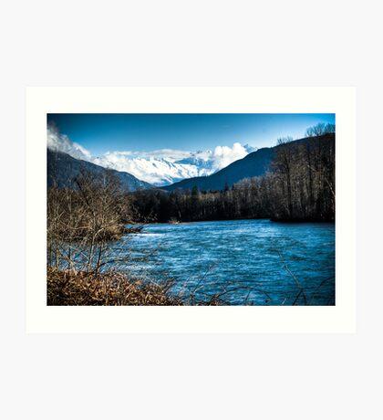 Skagit River, WA Art Print