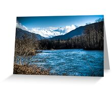 Skagit River, WA Greeting Card