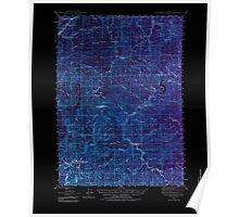 USGS Topo Map Oregon Dutchman Butte 282432 1946 62500 Inverted Poster