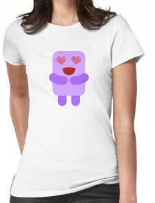 Marshmallow Love Bug Womens Fitted T-Shirt