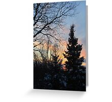 Sunset pallette Greeting Card