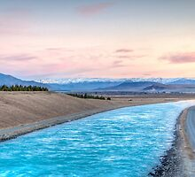 Pukaki Sunset by Russell Charters