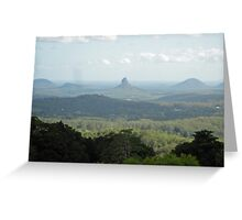 Glass House Mountains - From Melany Lookout Greeting Card