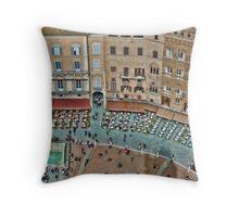 Piazza Del Campo, Siena, Florence Throw Pillow