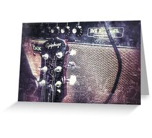 Mega Boogie and the Les Paul  Greeting Card
