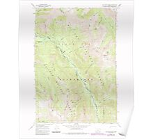USGS Topo Map Oregon Jim White Ridge 280326 1966 24000 Poster