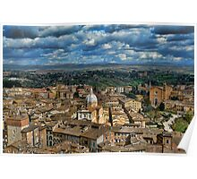View over Siena, Florence Poster