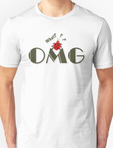 OMG What? Funny & Cute ladybug line art Unisex T-Shirt