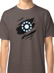 Arc Reactor Heart Torn Pattern Art Parody Classic T-Shirt