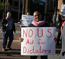 """No US Aid for Dictators"" by Leyla Hur"