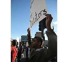 """""""No More US Aid for Dictators"""" Photographic Print"""