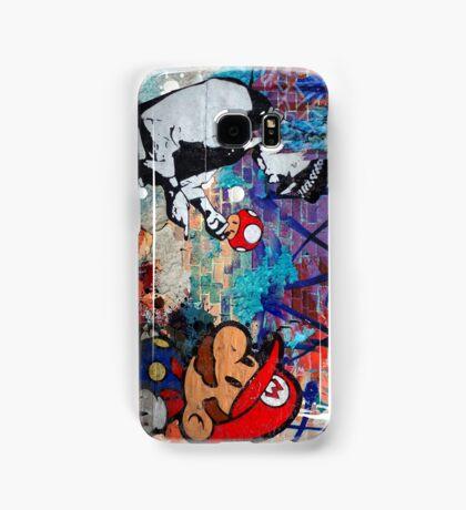 Super Mario Banksy Art London Police Street Graffiti Phone Cover Samsung Galaxy Case/Skin