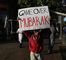 """Game Over Mubarak""  by Leyla Hur"