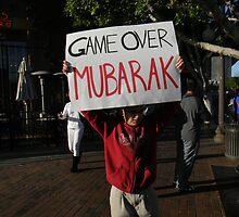 """Game Over Mubarak""  by Leyla Hur"