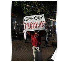 """Game Over Mubarak""  Poster"