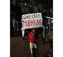 """Game Over Mubarak""  Photographic Print"