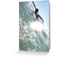 Body Surf @ Clarkes Beach, Byron Bay NSW Greeting Card