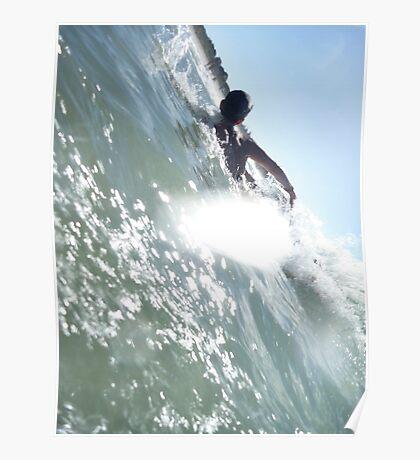 Body Surf @ Clarkes Beach, Byron Bay NSW Poster