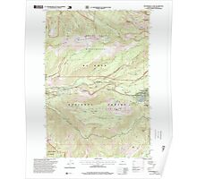 USGS Topo Map Oregon Government Camp 280060 1997 24000 Poster