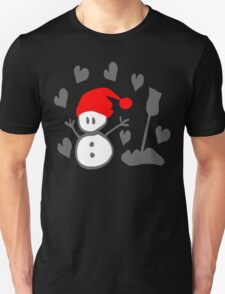 Snowman winter season holidays vector graphic art Unisex T-Shirt