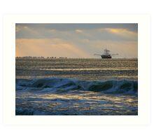 cape point trawler Art Print