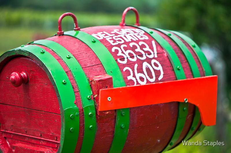 Winery Mailbox by Wanda Dumas