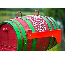 Winery Mailbox Photographic Print