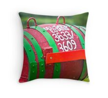 Winery Mailbox Throw Pillow