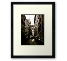 One Way Street Framed Print