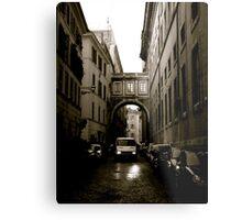 One Way Street Metal Print