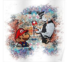 Banksy street art Graffiti London Cop Super Mario Funny Parody Poster