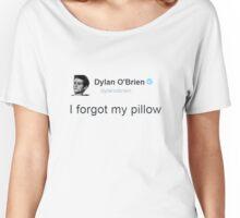 """""""I Forgot My Pillow"""" - Dylan O'brien Tweet Women's Relaxed Fit T-Shirt"""