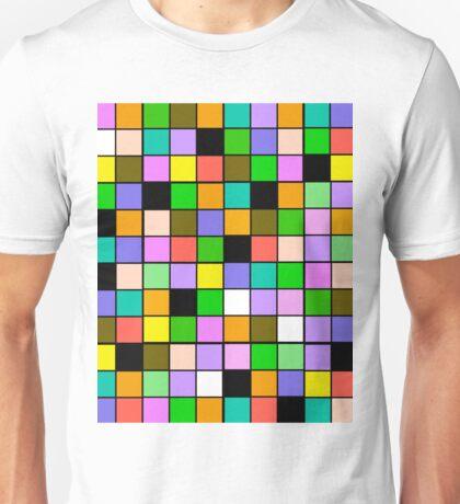 checkerboard Color Blocks Pastel Pattern Unisex T-Shirt
