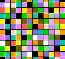 checkerboard Color Blocks Pastel Pattern by Saundra Myles