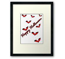 Happy Halloween tt bats horror vector art Framed Print