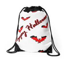 Happy Halloween tt bats horror vector art Drawstring Bag