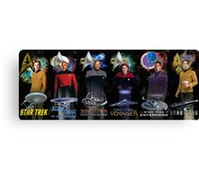 Star Trek - All The Captains Canvas Print