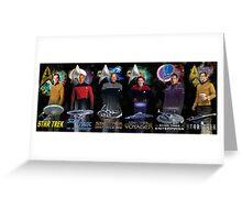 Star Trek - All The Captains Greeting Card